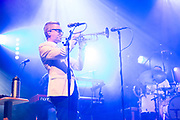 """Brooklyn, NY – 7 June 2017. Brooklyn-based Lake Street Dive opened the 2017 season of the BRIC Celebrate Brooklyn! Festival at the Prospect Park Bandshell to a packed venue. The band features Rachel Price on lead vocals; Mike """"McDuck"""" Olson is here on trumpet."""
