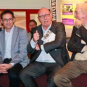 NLD/Amsterdam/20110221 - Boekpresentatie De Sportcanon, hoogleraar sportgeschiedenis Maarten van Bottenberg, Kees Jansma en Ad van Liempt