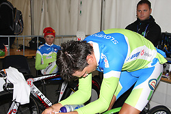 Robert Vrecer of Slovenia during the Elite Men's Time Trial on day three of the UCI Road World Championships on September 21, 2011 in Copenhagen, Denmark. (Photo by Marjan Kelner / Sportida Photo Agency)