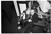 EMMA RODGERS; TRISTRAM FETHERSTONE HAUGH, Jericho Bugle Ball, Rocksange's 6 December 1984.  <br /> <br /> SUPPLIED FOR ONE-TIME USE ONLY> DO NOT ARCHIVE. © Copyright Photograph by Dafydd Jones 248 Clapham Rd.  London SW90PZ Tel 020 7820 0771 www.dafjones.com