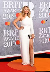 February 21, 2019 - London, London, United Kingdom - Image licensed to i-Images Picture Agency. 20/02/2019. London, United Kingdom. Emily Atack at the Brit Awards in London. (Credit Image: © i-Images via ZUMA Press)
