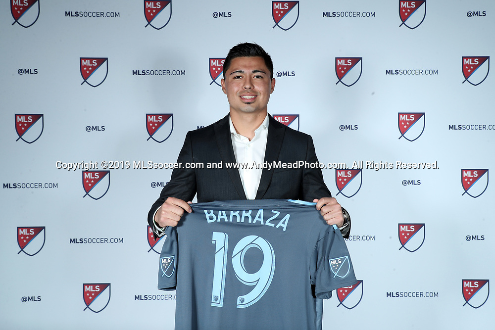 CHICAGO, IL - JANUARY 11: Luis Barraza was taken with the twelfth overall pick by New York City FC. The MLS SuperDraft 2019 presented by adidas was held on January 11, 2019 at McCormick Place in Chicago, IL.