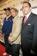 """Russell Simmons and T.I. and Dr. Ben Chavis at The Hip Hop Research and Education Fund(HREF), PowerPAC and the HipHop Summit Action Network (HSAN) present the national """"HipHop Team Vote: Turn Up the Vote"""" campaign event held at Temple University's Liacouras Center Arena on April 20, 2008 ..The HipHop Team Voe: Turn up the Vote brings together hiphop stars and community activists to send a strong, clear message to 18-35 year olds about the importance of voting in the Pennsylvania primary and national presidential election."""