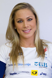Snezana Rodic at press conference of Slovenian team before departure to Indoor Athletics World Championship in Istanbul, on March 7, 2012 in Ljubljana, Slovenia.  (Photo By Vid Ponikvar / Sportida.com)