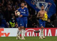 Football - 2018 / 2019 Europa League - Group L: Chelsea vs. FC BATE Borisov<br /> <br /> Ruben Loftus Cheek (Chelsea FC)  walks off with the match ball after his hat trick performance at Stamford Bridge.<br /> <br /> COLORSPORT/DANIEL BEARHAM