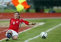 Fotball<br /> Landskamp J15/16 år<br /> Tidenes første landskamp for dette alderstrinnet<br /> Sverige v Norge 1-3<br /> Steungsund<br /> 11.10.2006<br /> Foto: Anders Hoven, Digitalsport<br /> <br /> Ina Skaug - Teie / Norge