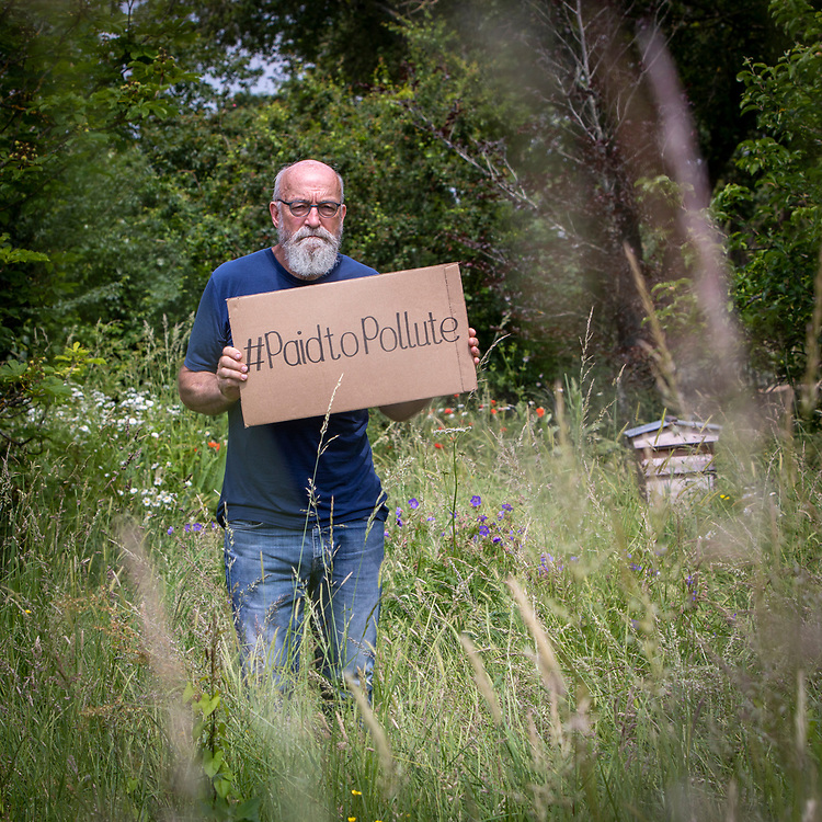 Climate Activist Jeremy Cox near his home on the 24th of June 2021 in Kent, United Kingdom. Jeremy is one of three climate activists taking the UK government to court over the billions of pounds of public money it wastes propping up the oil and gas industry. #PaidToPollute <br /> (photo by Andy Aitchison)