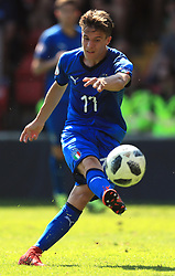 Italy U17's Nicolo Fagioli during the UEFA European U17 Championship, Group A match at Banks's Stadium, Walsall. PRESS ASSOCIATION Photo. Picture date: Monday May 7, 2018. See PA story SOCCER England U17. Photo credit should read: Mike Egerton/PA Wire. RESTRICTIONS: Editorial use only. No commercial use.