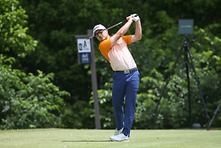 May 25, 2019 - Fort Worth, TX, U.S. - FORT WORTH, TX - MAY 25: Austin Cook hits from the 8th tee during the third round of the Charles Schwab Challenge on May 25, 2019 at Colonial Country Club in Fort Worth, TX. (Photo by George Walker/Icon Sportswire) (Credit Image: © George Walker/Icon SMI via ZUMA Press)