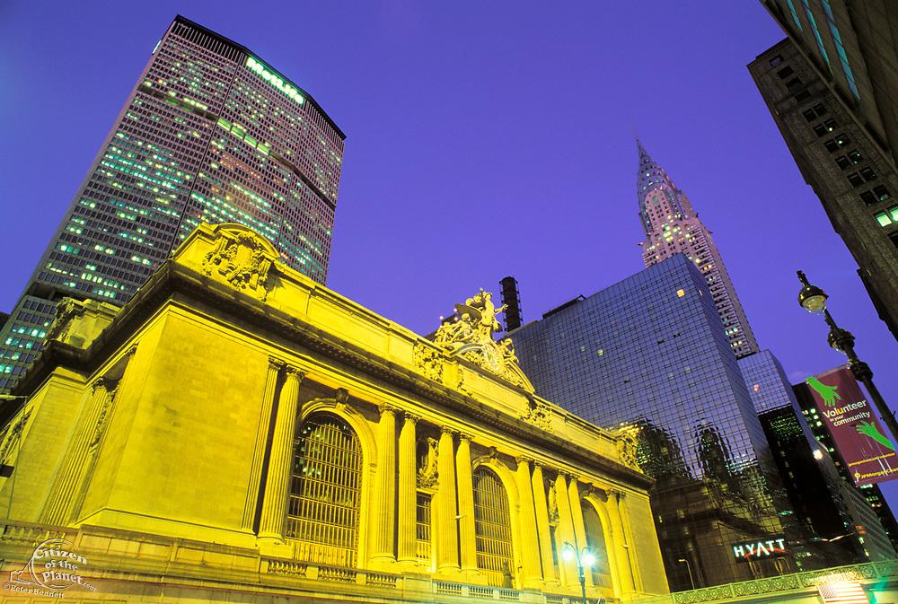 Grand Central Terminal, Chrysler Building & Metlife Building, Manhattan, New York