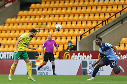 Lukas Rupp of Norwich City heads the ball - Mandatory by-line: Arron Gent/JMP - 24/10/2020 - FOOTBALL - Carrow Road - Norwich, England - Norwich City v Wycombe Wanderers - Sky Bet Championship