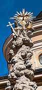 St. Ulrichs Church (Sankt Ulrichs) with Trinity Column, 7th district Vienna, Austria