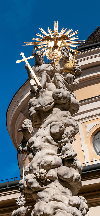 St. Ulrichs Church (Sankt Ulrichs) with Trinity Column, 7th district Vienna, Austria