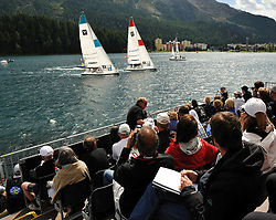 Spectators watching from the grandstands.Photo:Chris Davies/WMRT