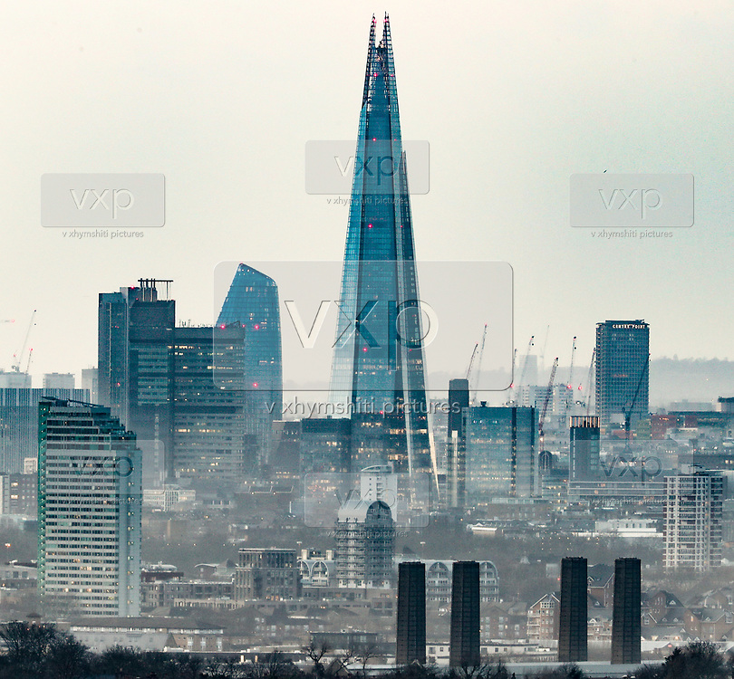 This is a picture taken from London's Shooters Hill on Feb 1, 2020, one day after the UK left the EU on Jan. 31 2020. (Photo/Vudi Xhymshiti)