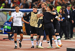 Liverpool head coach Jurgen Klopp celebrates at full time as his team reach the UEFA Champions League Final - Mandatory by-line: Matt McNulty/JMP - 02/05/2018 - FOOTBALL - Stadio Olimpico - Rome,  - Roma v Liverpool - UEFA Champions League Semi Final, 2nd Leg