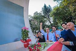 """O candidato a governador do estado pela coligação """"O Rio Grande Merece Mais"""", Vieira da Cunha, durante homenagem aos 60 anos da morte de Getúlio Vargas, no memorial da carta testamento em São Borja. FOTO: Jefferson Bernardes/ Agência Preview"""