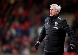 West Bromwich Albion manager Alan Pardew gestures on the touchline during the Premier League match at the Vitality Stadium, Bournemouth.
