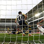 Balikesirspor's scores during their Turkish superleague soccer match Fenerbahce between Balikesirspor at the Sukru Saracaoglu stadium in Istanbul Turkey on Saturday 02 May 2015. Photo by TURKPIX