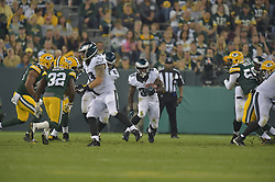 Kevin Monangai against the Green Bay Packers at Lambeau Field on August 29, 2015 in Green Bay, Pennsylvania. The Eagles won 39-26. (Photo by Drew Hallowell/Philadelphia Eagles)