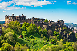 View of Edinburgh Castle in summer , Scotland, United Kingdom.