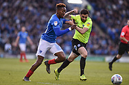 Portsmouth Midfielder, Jamal Lowe (10) chases down the ball during the EFL Sky Bet League 1 match between Portsmouth and Peterborough United at Fratton Park, Portsmouth, England on 30 April 2019.