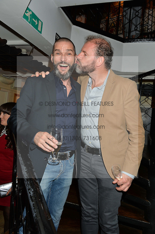 Left to right, FRED SIRIEIX and CHRIS GALVIN at a party hosted by Fred Sirieix, Maître d' on Channel 4's 'First Dates' at his favourite Spanish restaurant, El Pirata, 5-6 Down Street, London to celebrate the publication of his new book 'First Dates: The Art of Love' on 10th October 2016.