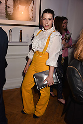Lilly Lewis at Mark Shand's Adventures and His Cabinet Of Curiosities VIP private view, 32 Portland Place, London, England. 20 February 2018.