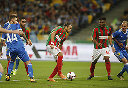 August 24, 2017 - Erdem Sen  (C) of Maritimo scores a goal during the Europa League second play-off soccer match between FC Dynamo Kyiv and FC Maritimo, at the Olimpiyskyi stadium in Kyiv, Ukraine, August 24, 2017. (Credit Image: © Anatolii Stepanov via ZUMA Wire)
