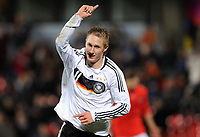 Fotball<br /> Tyskland<br /> Foto: Witters/Digitalsport<br /> NORWAY ONLY<br /> <br /> 18.11.2008<br /> <br /> Jubel 2:0 Sebastian Polter Deutschland<br /> Fussball U 18 Testspiel Deutschland - Oesterreich<br /> <br /> Fussball U 18 Testspiel Tyskland - Østerrike
