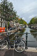 Amsterdam, Netherlands, Bicycle near a canal