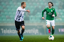 Ante Vukusic of NK Olimpija during the football match between NK Olimpija Ljubljana and NS Mura in 25. Round of Prva liga Telekom Slovenije 2019/20, on March 8, 2020 in Stadion Stozice, Ljubljana, Slovenia. Photo by Grega Valancic / Sportida