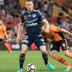 BRISBANE, AUSTRALIA - OCTOBER 7: Oliver Bozanic of the Victory controls the ball during the round 1 Hyundai A-League match between the Brisbane Roar and Melbourne Victory at Suncorp Stadium on October 7, 2016 in Brisbane, Australia. (Photo by Patrick Kearney/Brisbane Roar)