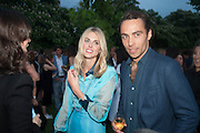 DONNA AIR; JAMES MIDDLETON, The Serpentine Summer Party 2013 hosted by Julia Peyton-Jones and L'Wren Scott.  Pavion designed by Japanese architect Sou Fujimoto. Serpentine Gallery. 26 June 2013. ,