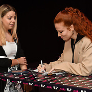 Jess Glynne is promoting her new album Always In Between signing autography at HMV , London, UK