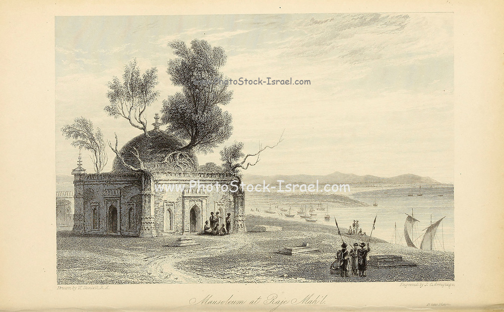 Mausoleum At Raje Mah'l From the book ' The Oriental annual, or, Scenes in India ' by the Rev. Hobart Caunter Published by Edward Bull, London 1834 engravings from drawings by William Daniell