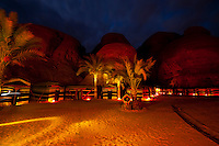 Goat hair tents, Captain's Desert Camp, Wadi Rum (in the Arabian Desert), Jordan