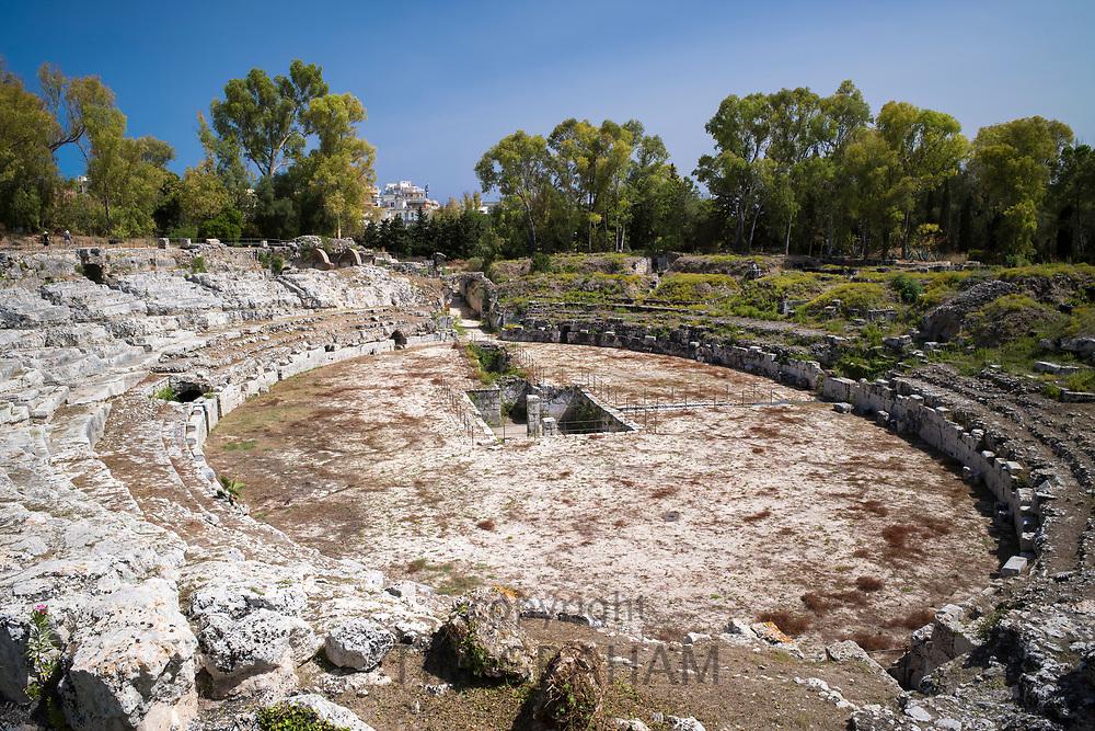Roman Amphitheatre in Syracusa, Sicily, Italy