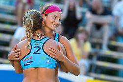 Ana Skarlovnik and Monika Potokar at tournament for Slovenian national championship - Drzavno prvenstvo Kranj 2013 on July 26, 2013, in Kranj, Slovenia. (Photo by Matic Klansek Velej / Sportida)