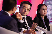 Calvin Choi, Chairman and President, AMTD Group, Hong Kong SAR, China; Young Global Leader during the session: China's Bay Area Economy at the World Economic Forum - Annual Meeting of the New Champions in Tianjin, People's Republic of China 2018.Copyright by World Economic Forum / Greg Beadle