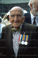 Private Jack Campbell.WW1 Old Contemptable. July 1988. A veteran of the First World War, initially joining at 16 (pretending to be 18)he experienced most of the major battles during the First World war including Mons. He was gassed.
