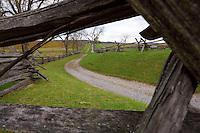 Bloody Lane formally known as the sunken road, Antietam National Battlefield, Sharpsburg, Maryland, USA.