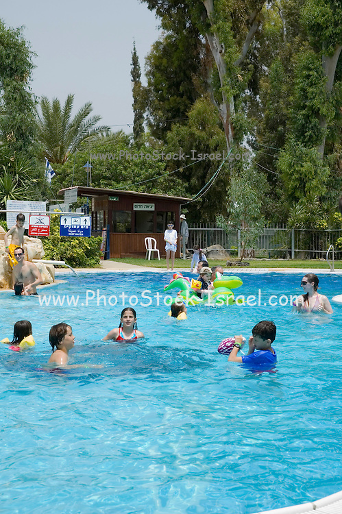 people on vacation in a swimming pool