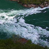 Canada, Ontario, Niagara Falls. White water Rapids of the Niagara River.
