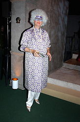 BRONWEN, VISCOUNTESS ASTOR  at the 2004 Goodwood Revival ball this year theme was a Venetian Masked Ball, held at Goodwood Motor Racing circuit, West Sussex on 4t September 2004.