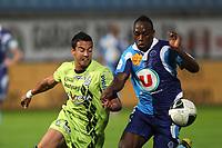 FOOTBALL - FRENCH CHAMPIONSHIP 2011/2012 - LE HAVRE AC v FC TOURS  - 9/09/2011 - PHOTO ERIC BRETAGNON / DPPI - JONATHAN RIVIEREZ (HAC) / DIEGO (TOURS)