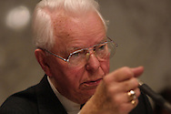 A 8.9 MG IMAGE OF: Senator Robert Byrd at a Senate Hearing  Photo by Dennis Brack