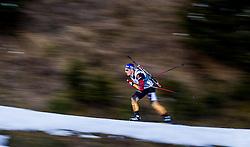 13.12.2014, Biathlonarena, Hochfilzen, AUT, E. ON IBU Weltcup, Staffel, Herren, im Bild Erik Lesser (GER) // during Mens Relay of E. ON IBU Biathlon World Cup at the Biathlonstadium in Hochfilzen, Austria on 2014/12/13. EXPA Pictures © 2014, PhotoCredit: EXPA/ JFK