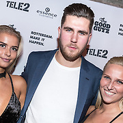 NLD/Rotterdam/20161102 - MTV Music Week Official Opening Party 2016, Vlaamse cast van Ex on the Beach, Munja, Arien en Dada