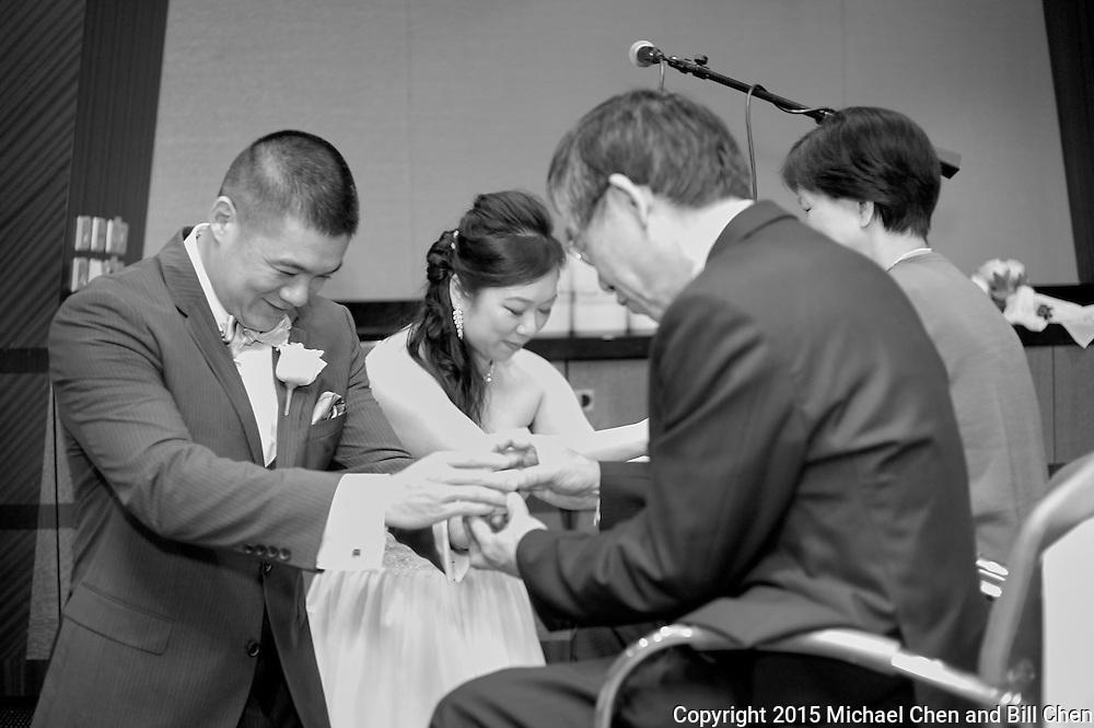 2015/10/18 -- Andrea & Charles -- Andrea Chin & Charles Chen wedding celebration at sea on Royal Caribbean Liberty at Sea.<br /> <br /> Photo by Michael Chen and Bill Chen